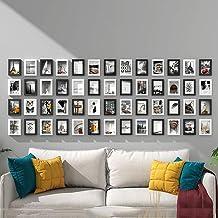 GJNVBDZSF Conjunto de molduras para parede, molduras para fotos, conjunto de 52 molduras para decoração de sofá, parede N5...
