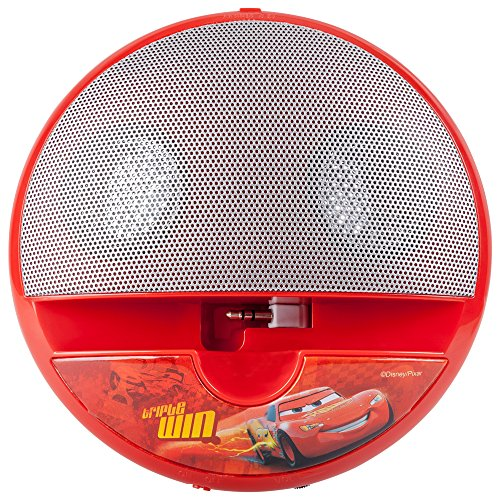 Disney DYPSCA5 Arkas Car luidspreker voor MP3/Apple iPod/Apple iPhone 3/4S/5 Mini Player/mobiele telefoon/notebook rood