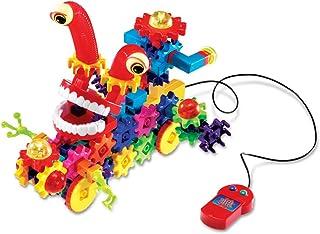 Learning Resources Gears! Gears! Gears! 古怪的电动可摇摆齿轮拼接玩具套装,130件