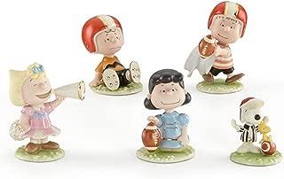 Lenox Peanuts Football Team Figurines Game Charlie Brown Snoopy Lucy Sally Linus