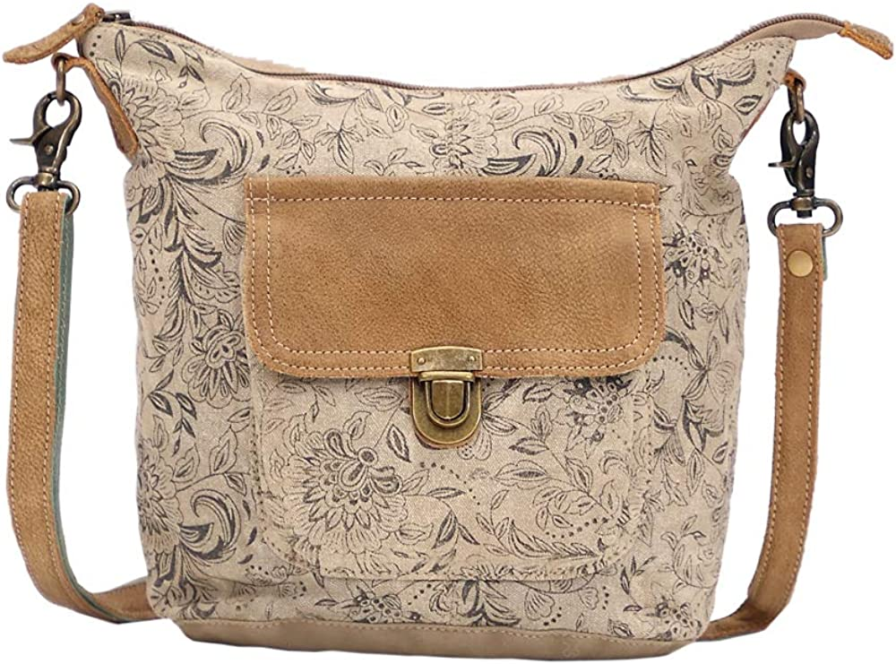 Myra Bag Ranking TOP17 Doyen Upcycled S-1524 Canvas Leather Shoulder Credence
