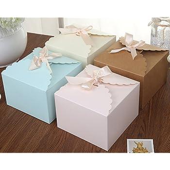 Chilly Cajas de regalo, Set de 12 cajas decorativas, pastel, galletas, golosinas, caramelos, baño bombas ducha jabones regalos para Navidad, fiesta, vacaciones, bodas (color sólido): Amazon.es: Juguetes y juegos