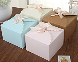Chilly Gift Boxes, Set of 12 Decorative Treats Boxes, Cake, Cookies, Goodies, Candy and Handmade Bath Bombs Shower Soaps Gift Boxes for Christmas, Birthdays, Holidays, Weddings (Solid Color)