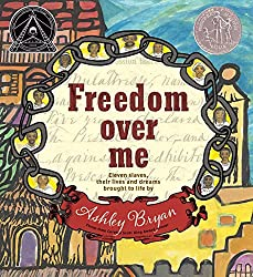 Freedom over me poetry book with historical poems for middle school students