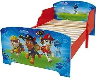 Fun House Fun HOUSE-712532-PAT Patrouille-Lit Enfant avec Lattes 140 x 70 cm, Bois MDF, Bleu, 140x70x59 cm