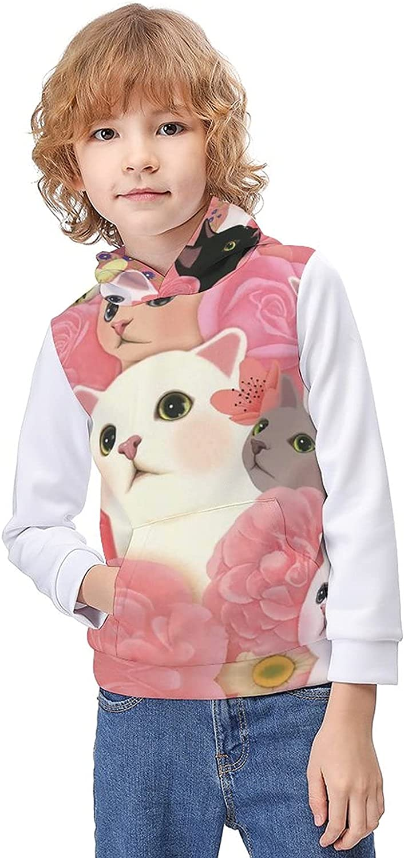 Cute Cartoon Cat hooded sweater,hoodie for kids,Winter fashion Sweatshirts,Child sweater for boys girls