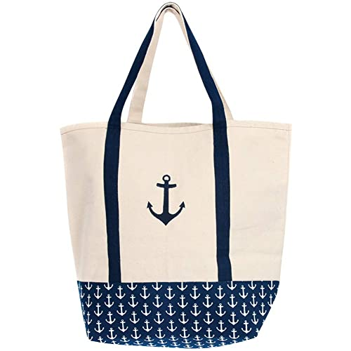 9956370cd9 Latitude 38 Large Canvas Anchor Tote Bag