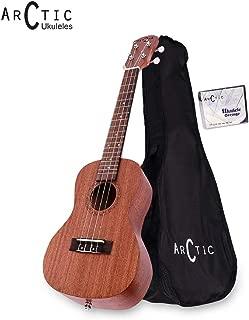Arctic AC-UK24SPL Soprano Ukelele Kit with Bag and String Set (Natural)