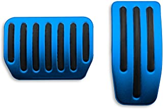 LFOTPP 2PCS Aluminum Alloy Footrest Pedals Cover for Tesla Model 3 Anti-Slip Accelerator Brake Foot Pedal (Blue)