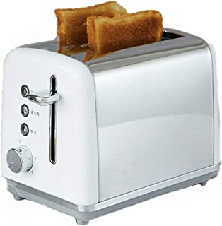 Grille-pain en acier inoxydable, 2 emplacements de cartes, 6 réglages d'ombre à pain, chauffage, cuisson, fonction de déco...