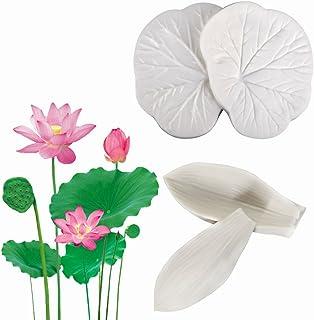 AK ART KITCHENWARE Lotus Leaf & Petal Veiners Gum Paste Flower Craft Mold for Fondant Cake Decorating Supplies Pastry Baking Tools VM097&VM147