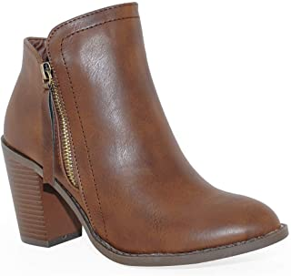 Best brown ankle boots with heel Reviews