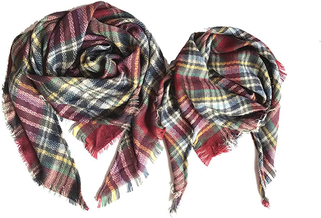 Mom Daughter Matching Scarfs Mommy Fort Worth Mall and Plaid Set Me Towel Scarf Max 45% OFF