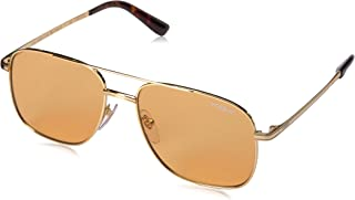 VOGUE Women's Special Collection by Gigi Hadid VO4083S Rectangular Metal Sunglasses, Gold/Orange, 55 mm