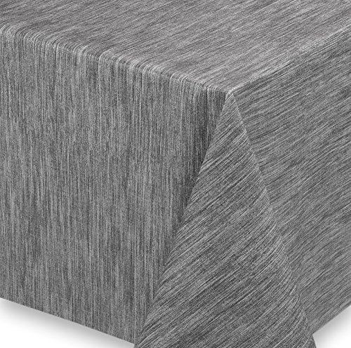 WACHSTUCH Tischdecken Meterware abwischbar LFBG, Reliefdruck Georginias Grau, Größe wählbar (240x140 cm)