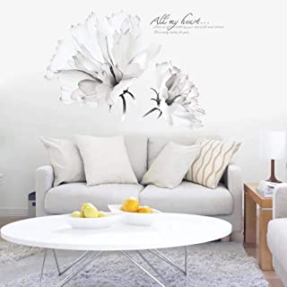 Best white floral wall decals Reviews