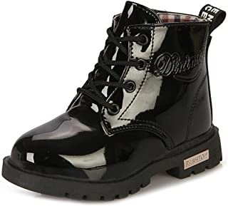 Toddlers Boys Girls Fashion Lace-Up Zipper Short Ankle Boots Plush Snow High-Top Booties