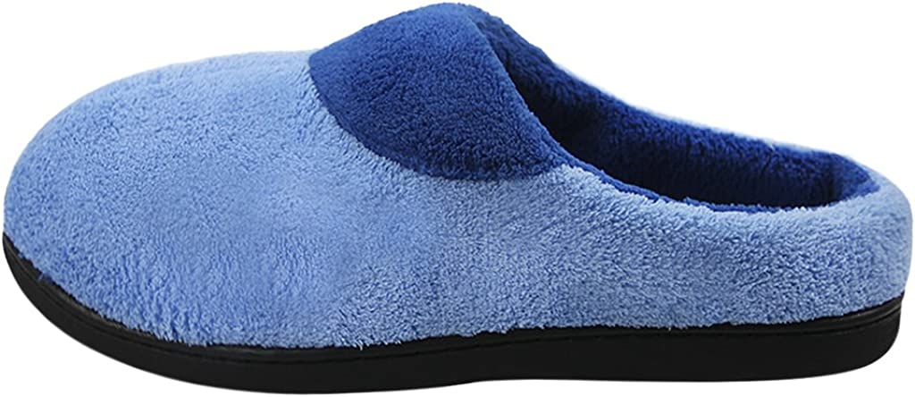 Mens Slippers Winter Warm Wool Plush Indoor Slippers Non-Slip Slip on Fuzzy Scuff Clog Thermal Home Bedroom Footwear Shoes Ankle Booties