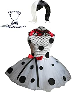 The DeVille Dalmation Costume Tutu Dress w/Accessories from Chunks of Charm