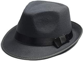 HYF Womens Wide Brim Hat Winter Autumn Wide Brim Jazz Hats with Fashion Ribbon