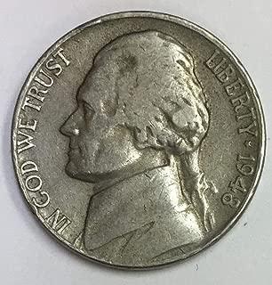 1948 D Jefferson Nickel Average Circulated Five-Cent Piece