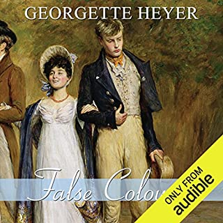 False Colours                   By:                                                                                                                                 Georgette Heyer                               Narrated by:                                                                                                                                 Phyllida Nash                      Length: 10 hrs and 54 mins     616 ratings     Overall 4.5
