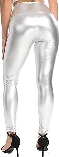 FITTOO Leggings in Pelle da Donna Pantaloni Ecopelle Collant Sexy Leather Pants Sexy Slim Vita Alta Pantaloni Elastici in ...