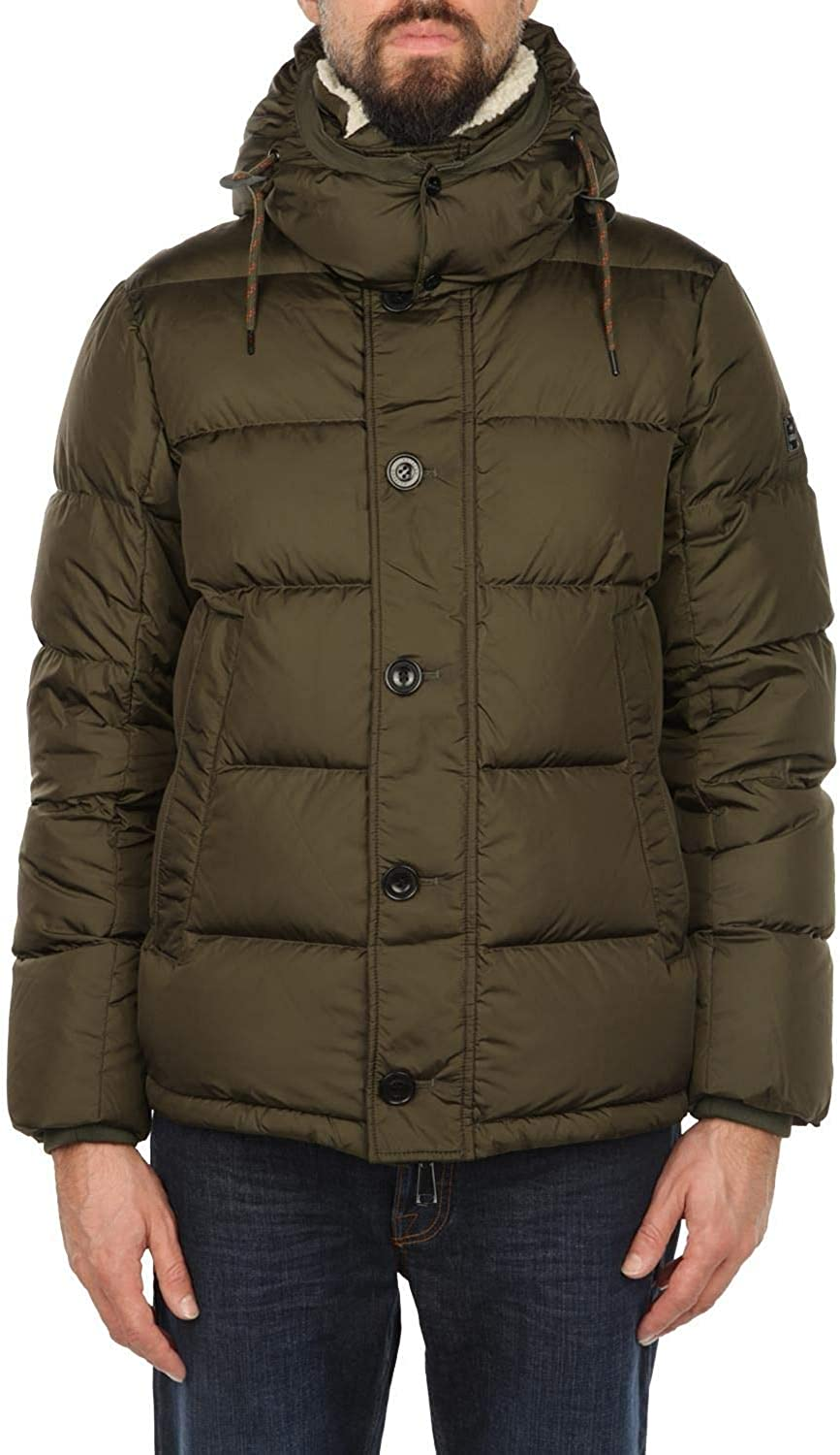 HETREGó Men's 8G483THERNANKMB Green Polyester Down Jacket