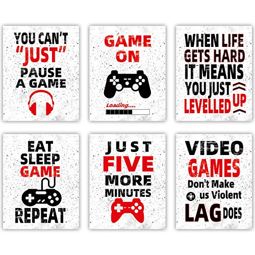 Video Game Wall Art Teen Boy Room Decor Funny Gaming Posters Canvas Game Decoration for Kids...