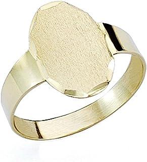 Baby sigillo 18k oro cave [7510GR] metà ovali - personalizzabile - REGISTRAZIONE INCLUSO NEL PREZZO