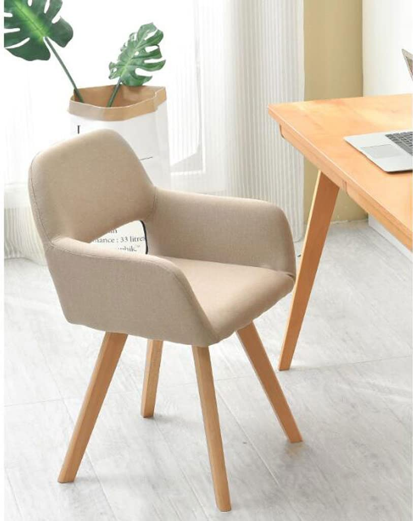 XXT-Chaise en Bois Massif Simple Chaise d'ordinateur Moderne Creativity Dossier Chaise de Bureau Casual Chaise de Salle à Manger Durable (Color : A) B