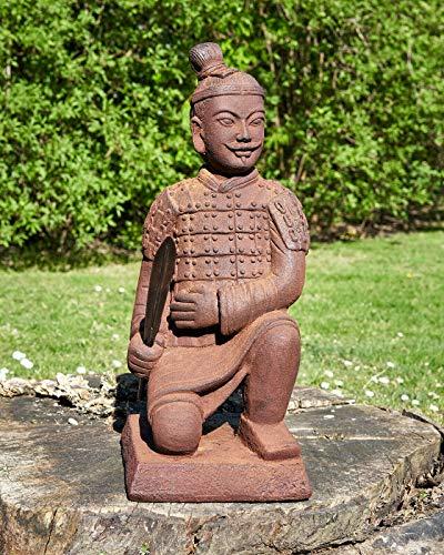Märchenwald Krieger kniend Terrakotta Armee Dekorative Figur für Innen- und Aussen Skulptur Soldat