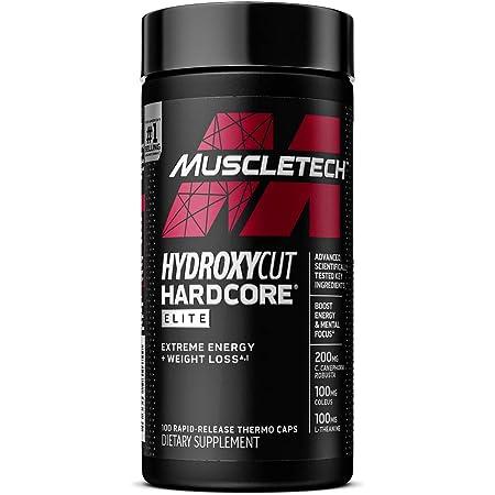 Hydroxycut Hardcore Elite   Maximum Intensity Supplement Pills   Focus + Energy Pills   100 Pills