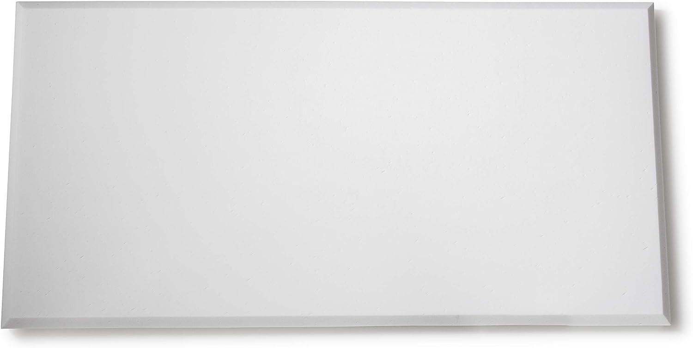 schwer entz/ündbar lichtecht toller Kantenschliff filigrane Struktur wei/ß Schallabsorber 24 St/ück 50x50x5cm Akustikd/ämmplatte L/ärmreduktion aus Schaumstoff mit Fase