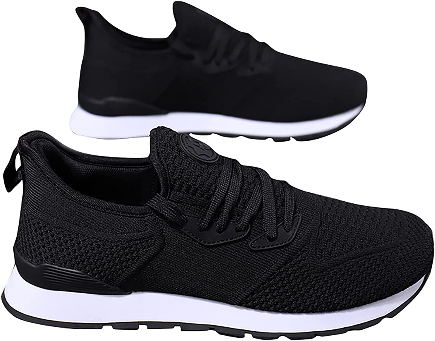 Adeliber New Women Sexy Shoes Fashion Outdoor No-Slip Mesh Comfortable Walking Shoes Fly Woven Breathable Running Sports Shoes Lace Up Casual Shoes Lightweight Sneakers All-Match Work Shoes for Women