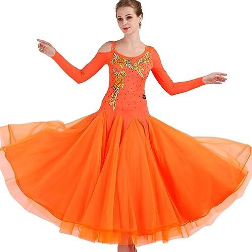 CX Jupe De Danse Moderne Robe De Danse De Salon Valse Costume De Compétition
