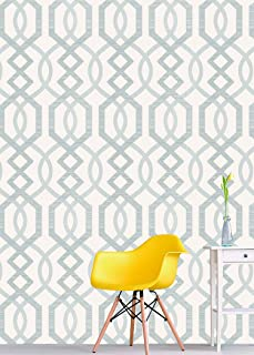 7264 Geometric Pattern Wallpaper Rolls, White/Silver Embossed Wall Paper Murals Bedroom Living Room Hotels Wall Decoration 20.8