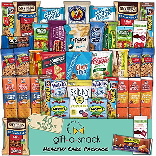 Healthy Snack Box Variety Pack Care Package (40 Count) Halloween Trick or Treat Gift Basket -...