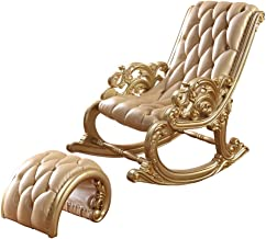 European Style Rocking Chair, Zero Gravity Lounge Chair, Recliner Lounge Chair with Footstool, for Living Room Bedroom Bal...