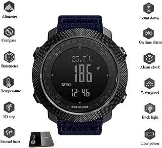WXG1 Inteligente Reloj de los Deportes, Reloj de Pulsera de Alta presión al Aire Libre con brújula termómetro, rastreador de Ejercicios, 50M Impermeable Reloj Militar multifunción,Azul