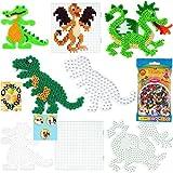 HAMA Bügelperlen-Bastel-Set midi-Stift-Platten-Set midi Krokodil + Drache+ Dinosaurier + großes Quadrat + Bügelperlen #18