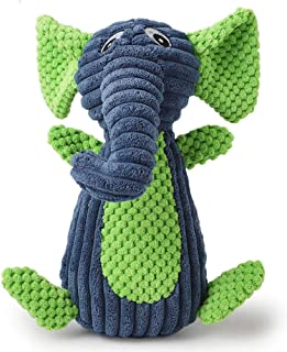 LtrottedJ Funny Animal Shape Pet Puppy Dog Toys Soft Plush Sound Squeaky Chew Toy Gifts (Blue)