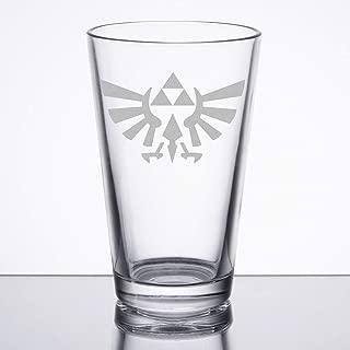 The Legend of Zelda - Triforce (Hylian Crest) - Etched Pint Glass