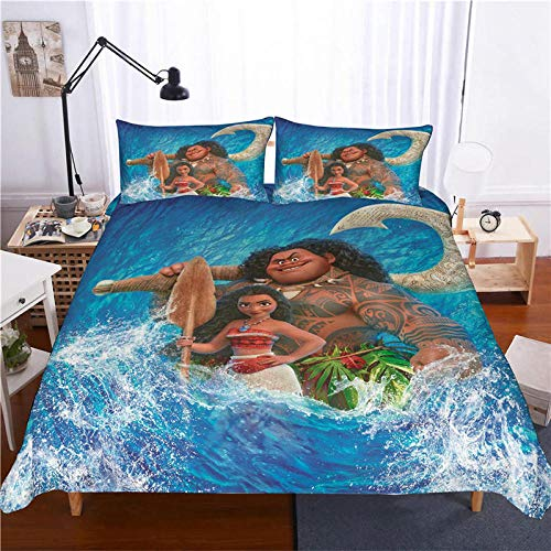 Bcooseso Bedding Sets Duvet Cover Polyester Microfiber Printing 3D Cartoon anime character Bedding 3Pcs, 1*duvet cover 2* matching pillowcases Single size - 135 x 200 cm
