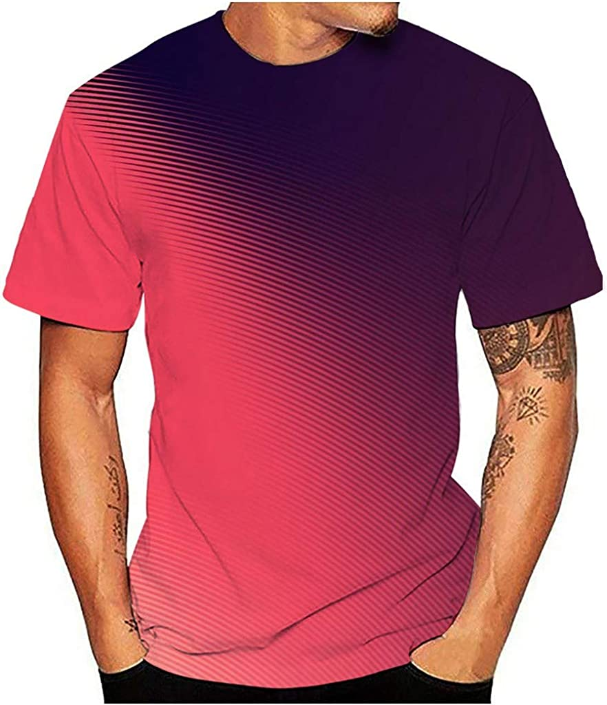SERYU Unisex 3D Printing Fort Worth Mall Round Neck Blous Sleeve Short Cheap super special price Top Shirt