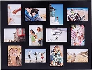 Malden 4x6 12Opening Collage Picture Frame, Displays Twelve, Black