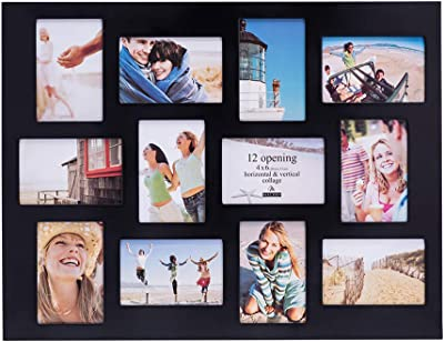 Malden 4x6 12Opening Collage Picture Frame Displays Twelve, Black