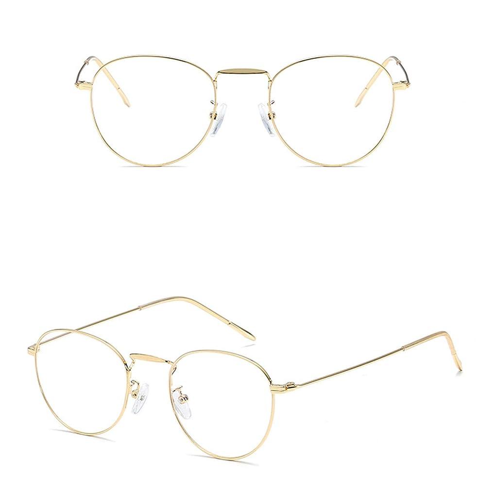 Blue Light Filter Computer Glasses for Blocking UV Headache [Anti Eye Eyestrain] Transparent Lens Gaming Glasses, Unisex (Men/Women),4gold