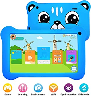 Kids Tablet, Android 9.0 Tablet for kids with WiFi 2GB+16GB Parents Control & Kids Mode Pre-Installed Kid-Proof Silicone Case Supported YouTube 7