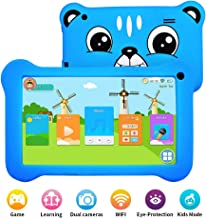 "Kids Tablet, Android 9.0 Tablet for kids with WiFi 2GB+16GB Parents Control & Kids Mode Pre-Installed Kid-Proof Silicone Case Supported YouTube 7""IPS HD Display Kid Friendly and Use Friendly"